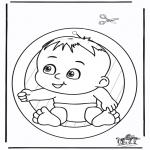 Knutselen - Raamhanger baby
