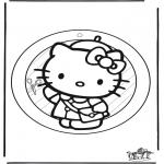 Knutselen - Raamhanger Hello Kitty