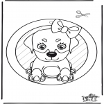Knutselen - Raamhanger hond