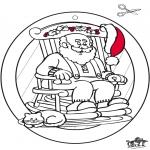Kerst Kleurplaten - Raamhanger Kerst 1