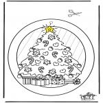 Kerst Kleurplaten - Raamhanger Kerst 2