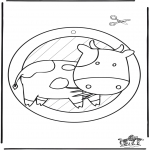 Knutselen - Raamhanger koe 2