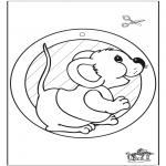 Knutselen - Raamhanger muis