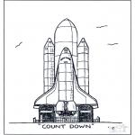 Allerlei Kleurplaten - Raket lancering