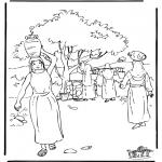 Kleurplaten Bijbel - Rebecca 2