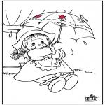 Allerlei Kleurplaten - Regen
