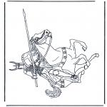 Allerlei Kleurplaten - Ridder 2
