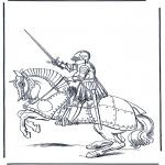 Allerlei Kleurplaten - Ridder te paard