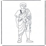 Allerlei Kleurplaten - Romeinse man