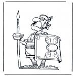 Stripfiguren Kleurplaten - Romeinse soldaat Asterix
