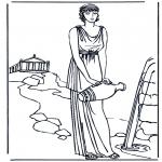 Allerlei Kleurplaten - Romeinse vrouw 1
