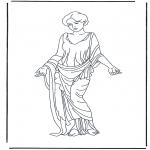 Allerlei Kleurplaten - Romeinse vrouw 2