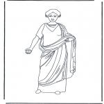 Allerlei Kleurplaten - Romeinse vrouw 3