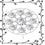 Mandala Kleurplaten - Rozen Mandala 2