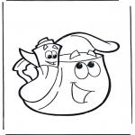 Kinderkleurplaten - Rugzak en Kaart