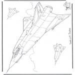 Allerlei Kleurplaten - Saab J 35 F Draken