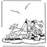 Stripfiguren Kleurplaten - Samson en Gert 2