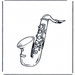 Allerlei Kleurplaten - Saxofoon