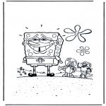Kinderkleurplaten - Schamende Spongebob