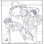 Allerlei Kleurplaten - Schilder Alma-Tadema