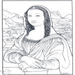 Allerlei Kleurplaten - Schilder da Vinci