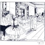 Allerlei Kleurplaten - Schilder E. Degas