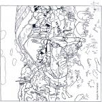 Allerlei Kleurplaten - Schilder Gauguin 1