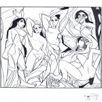 Allerlei Kleurplaten - Schilder Picasso