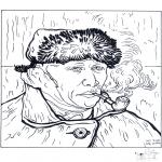 Allerlei Kleurplaten - Schilder Van Gogh 2