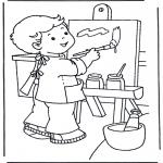 Kinderkleurplaten - Schilderen op doek