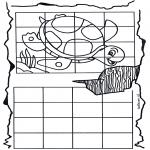 Knutselen - Schildpad overtekenen