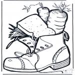 Knutselen Prikkaarten - Schoen met lekkers