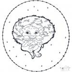 Knutselen Borduurkaarten - Simba Borduurkaart