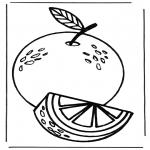 Allerlei Kleurplaten - Sinaasappel