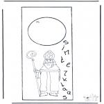 Knutselen Prikkaarten - Sint deurhanger