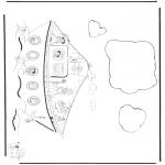 Knutselen Prikkaarten - Sint op de pakjesboot