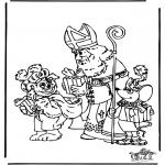 Knutselen Prikkaarten - Sinterklaas 13