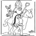 Knutselen Prikkaarten - Sinterklaas 25