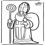 Knutselen Prikkaarten - Sinterklaas 4