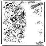 Knutselen Prikkaarten - Sinterklaas 40