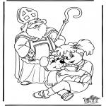 Knutselen Prikkaarten - Sinterklaas 42