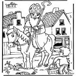 Knutselen Prikkaarten - Sinterklaas 5