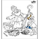 Knutselen Prikkaarten - Sinterklaas 55