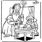 Knutselen Prikkaarten - Sinterklaas 6