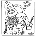 Knutselen Prikkaarten - Sinterklaas 7