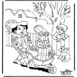 Knutselen Prikkaarten - Sinterklaas 8