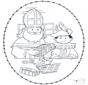 Sinterklaas borduurkaart 1