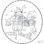 Knutselen Borduurkaarten - Sinterklaas borduurkaart 2