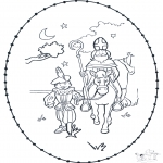 Knutselen Borduurkaarten - Sinterklaas borduurkaart 3