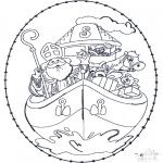 Knutselen Borduurkaarten - Sinterklaas Borduurkaart 5